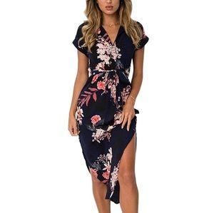 🌺 Floral Midi Giselle Wrap Dress 🌺